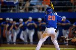 Florida Gators first baseman Peter Alonso stands in at the plate, as the No. 1 overall seed Florida Gators conclude their opening sweep of the Gainesville Regional by beating Georgia Tech 10-1 in the final at McKethan Stadium.  June 5th, 2016. Gator Country photo by David Bowie.