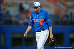 Florida Gators pitcher Alex Faedo walking back to the dugout, as the No. 1 overall seed Florida Gators conclude their opening sweep of the Gainesville Regional by beating Georgia Tech 10-1 in the final at McKethan Stadium.  June 5th, 2016. Gator Country photo by David Bowie.