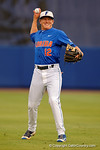 Florida Gators infielder Blake Reese throwing during infield warmups, as the No. 1 overall seed Florida Gators conclude their opening sweep of the Gainesville Regional by beating Georgia Tech 10-1 in the final at McKethan Stadium.  June 5th, 2016. Gator Country photo by David Bowie.