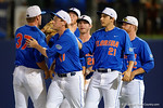 Florida Gators pitcher Alex Faedo and the Gators celebrate as the No. 1 overall seed Florida Gators conclude their opening sweep of the Gainesville Regional by beating Georgia Tech 10-1 in the final at McKethan Stadium.  June 5th, 2016. Gator Country photo by David Bowie.