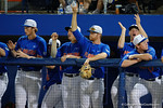 Florida Gators pitcher Logan Shore and the Gators celebrate going up 3-0, as the No. 1 overall seed Florida Gators conclude their opening sweep of the Gainesville Regional by beating Georgia Tech 10-1 in the final at McKethan Stadium.  June 5th, 2016. Gator Country photo by David Bowie.