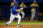 Florida Gators shortstop Dalton Guthrie lays down a bunt, as the No. 1 overall seed Florida Gators conclude their opening sweep of the Gainesville Regional by beating Georgia Tech 10-1 in the final at McKethan Stadium.  June 5th, 2016. Gator Country photo by David Bowie.
