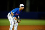 Florida Gators third baseman Jonathan India gets set at third, as the No. 1 overall seed Florida Gators conclude their opening sweep of the Gainesville Regional by beating Georgia Tech 10-1 in the final at McKethan Stadium.  June 5th, 2016. Gator Country photo by David Bowie.