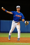 Florida Gators third baseman Jonathan India throws to first as the No. 1 overall seed Florida Gators conclude their opening sweep of the Gainesville Regional by beating Georgia Tech 10-1 in the final at McKethan Stadium.  June 5th, 2016. Gator Country photo by David Bowie.