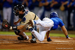 Florida Gators third baseman Jonathan India slides into home, as the No. 1 overall seed Florida Gators conclude their opening sweep of the Gainesville Regional by beating Georgia Tech 10-1 in the final at McKethan Stadium.  June 5th, 2016. Gator Country photo by David Bowie.