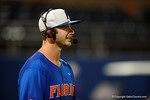 Florida Gators first baseman Peter Alonso giving a post game interview as the No. 1 overall seed Florida Gators conclude their opening sweep of the Gainesville Regional by beating Georgia Tech 10-1 in the final at McKethan Stadium.  June 5th, 2016. Gator Country photo by David Bowie.