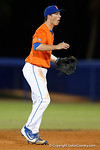 Florida Gators shortstop Dalton Guthrie cheers on his pitcher as the #1 ranked Gators chomp the #11 Florida State Seminoles 6-0 at McKethan Stadium. March 15th, 2015. Gator Country photo by David Bowie.