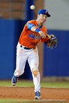 Florida Gators third baseman Jonathan India throws to first base as the #1 ranked Gators chomp the #11 Florida State Seminoles 6-0 at McKethan Stadium. March 15th, 2015. Gator Country photo by David Bowie.