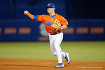 Florida Gators second baseman Deacon Liput throws to first for the force out as the #1 ranked Gators chomp the #11 Florida State Seminoles 6-0 at McKethan Stadium. March 15th, 2015. Gator Country photo by David Bowie.
