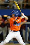 Florida Gators second baseman Deacon Liput at the plate as the #1 ranked Gators chomp the #11 Florida State Seminoles 6-0 at McKethan Stadium. March 15th, 2015. Gator Country photo by David Bowie.