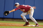 FSU fist baseman Dylan Busby as the #1 ranked Gators chomp the #11 Florida State Seminoles 6-0 at McKethan Stadium. March 15th, 2015. Gator Country photo by David Bowie.