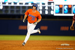 Florida Gators first baseman Peter Alonso rounds second base after hitting a home run to put the Gators up 3-0, as the #1 ranked Gators chomp the #11 Florida State Seminoles 6-0 at McKethan Stadium. March 15th, 2015. Gator Country photo by David Bowie.