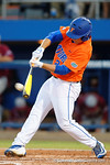 Florida Gators outfielder Jeremy Vasquez at the plate as the #1 ranked Gators chomp the #11 Florida State Seminoles 6-0 at McKethan Stadium. March 15th, 2015. Gator Country photo by David Bowie.