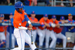 Florida Gators outfielder Buddy Reed swings at a pitch as the #1 ranked Gators chomp the #11 Florida State Seminoles 6-0 at McKethan Stadium. March 15th, 2015. Gator Country photo by David Bowie.