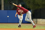 FSU first baseman Dylan Busby misses a fly ball as the #1 ranked Gators chomp the #11 Florida State Seminoles 6-0 at McKethan Stadium. March 15th, 2015. Gator Country photo by David Bowie.