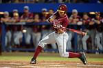 A FSU batter swings away at the plate as the #1 ranked Gators chomp the #11 Florida State Seminoles 6-0 at McKethan Stadium. March 15th, 2015. Gator Country photo by David Bowie.
