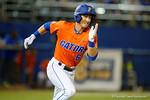 Florida Gators third baseman Jonathan India sprints to first base as the #1 ranked Gators chomp the #11 Florida State Seminoles 6-0 at McKethan Stadium. March 15th, 2015. Gator Country photo by David Bowie.