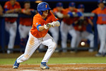 Florida Gators shortstop Dalton Guthrie bunting as the #1 ranked Gators chomp the #11 Florida State Seminoles 6-0 at McKethan Stadium. March 15th, 2015. Gator Country photo by David Bowie.