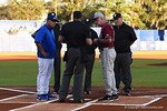 Florida Gators head coach Kevin O'Sullivan and Noles coach Martin as the #1 ranked Gators chomp the #11 Florida State Seminoles 6-0 at McKethan Stadium. March 15th, 2015. Gator Country photo by David Bowie.
