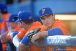 Florida Gators outfielder Jeremy Vasquez as the #1 ranked Gators chomp the #11 Florida State Seminoles 6-0 at McKethan Stadium. March 15th, 2015. Gator Country photo by David Bowie.