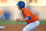 Florida Gators catcher JJ Schwarz leads off first base as the #1 ranked Gators chomp the #11 Florida State Seminoles 6-0 at McKethan Stadium. March 15th, 2015. Gator Country photo by David Bowie.
