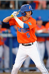 Florida Gators shortstop Dalton Guthrie stands at the plate as the #1 ranked Gators chomp the #11 Florida State Seminoles 6-0 at McKethan Stadium. March 15th, 2015. Gator Country photo by David Bowie.