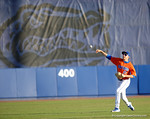 Florida Gators pitcher Alex Faedo throwing during infield practice as the #1 ranked Gators chomp the #11 Florida State Seminoles 6-0 at McKethan Stadium. March 15th, 2015. Gator Country photo by David Bowie.