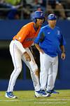 Florida Gators outfielder Buddy Reed leads off third base as the #1 ranked Gators chomp the #11 Florida State Seminoles 6-0 at McKethan Stadium. March 15th, 2015. Gator Country photo by David Bowie.