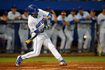 Florida Gators third baseman Jonathan India swings away in a 4-2 win over the #7 Vanderbilt Commodores at McKethan Stadium. May 13th, 2016. Gator Country photo by David Bowie.