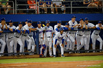 The Florida Gators watch on from the dugout in a 4-2 win over the #7 Vanderbilt Commodores at McKethan Stadium. May 13th, 2016. Gator Country photo by David Bowie.