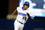 Florida Gators outfielder Buddy Reed rounds second, third and heads home to put the Gators up 3-2, in a 4-2 win over the #7 Vanderbilt Commodores at McKethan Stadium. May 13th, 2016. Gator Country photo by David Bowie.