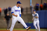 Florida Gators pitcher Logan Shore celebrates his complete game 4-2 win over the #7 Vanderbilt Commodores at McKethan Stadium. May 13th, 2016. Gator Country photo by David Bowie.