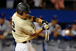 Vandy infielder Connor Kaiser singles and drives in a run to put the Commodores up 2-1, the Gators went on to win 4-2 win over the #7 Vanderbilt Commodores at McKethan Stadium. May 13th, 2016. Gator Country photo by David Bowie.