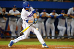 Florida Gators catcher JJ Schwarz at the plate in a 4-2 win over the #7 Vanderbilt Commodores at McKethan Stadium. May 13th, 2016. Gator Country photo by David Bowie.