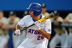 Florida Gators pitcher Nick Horvath showing bunt in a 4-2 win over the #7 Vanderbilt Commodores at McKethan Stadium. May 13th, 2016. Gator Country photo by David Bowie.