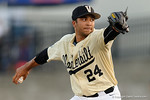 Vanderbilt Commodores pitcher Jordan Sheffield on the mound in a 4-2 loss to the #1 University of Florida Gators at McKethan Stadium. May 13th, 2016. Gator Country photo by David Bowie.