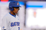 Florida Gators outfielder Buddy Reed doubles in a 4-2 win over the #7 Vanderbilt Commodores at McKethan Stadium. May 13th, 2016. Gator Country photo by David Bowie.