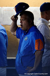 University of Florida Gators baseball head coach Kevin O'Sullivan reacting in the dugout, in a 4-2 win over the #7 Vanderbilt Commodores at McKethan Stadium. May 13th, 2016. Gator Country photo by David Bowie.