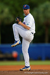Florida Gators pitcher Logan Shore throwing a complete game in a 4-2 win over the #7 Vanderbilt Commodores at McKethan Stadium. May 13th, 2016. Gator Country photo by David Bowie.