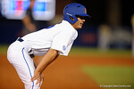 Florida Gators pitcher Eddy Demurias comes in to pinch run, in a 4-2 win over the #7 Vanderbilt Commodores at McKethan Stadium. May 13th, 2016. Gator Country photo by David Bowie.