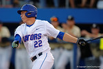 Florida Gators catcher JJ Schwarz swings away in a 4-2 win over the #7 Vanderbilt Commodores at McKethan Stadium. May 13th, 2016. Gator Country photo by David Bowie.