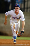 Florida Gators first baseman Peter Alonso charges a ground ball, in a 4-2 win over the #7 Vanderbilt Commodores at McKethan Stadium. May 13th, 2016. Gator Country photo by David Bowie.
