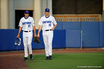 Florida Gators pitcher Alex Faedo and Florida Gators pitcher A.J. Puk during pregame before a 4-2 win over the #7 Vanderbilt Commodores at McKethan Stadium. May 13th, 2016. Gator Country photo by David Bowie.