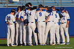 The Florida Gators gather together during pregame before a 4-2 win over the #7 Vanderbilt Commodores at McKethan Stadium. May 13th, 2016. Gator Country photo by David Bowie.