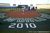 The field is prepared for the College World Series Opening Ceremonies on Friday, June 18, 2010 at Rosenblatt Stadium in Omaha, Neb. / photo by Tim Casey
