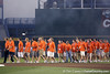 Clemson players enter the stadium during the College World Series Opening Ceremonies on Friday, June 18, 2010 at Rosenblatt Stadium in Omaha, Neb. / photo by Tim Casey