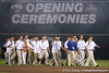 The Florida baseball team enters the stadium during the College World Series Opening Ceremonies on Friday, June 18, 2010 at Rosenblatt Stadium in Omaha, Neb. / photo by Tim Casey