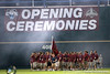 Arizona State is introduced during the College World Series Opening Ceremonies on Friday, June 18, 2010 at Rosenblatt Stadium in Omaha, Neb. / photo by Tim Casey