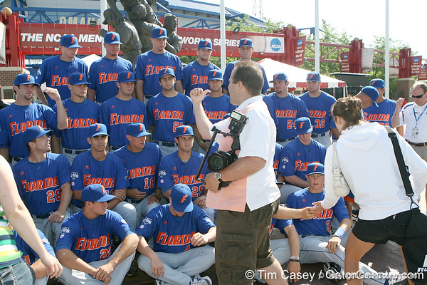 Florida players pose for a team photo during the Gators' pre-College World Series practice on Friday, June 18, 2010 at Rosenblatt Stadium in Omaha, Neb. / photo by Tim Casey