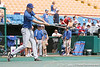 Florida freshman pitcher Greg Larson hits ground balls to infielders during the Gators' pre-College World Series practice on Friday, June 18, 2010 at Rosenblatt Stadium in Omaha, Neb. / photo by Tim Casey